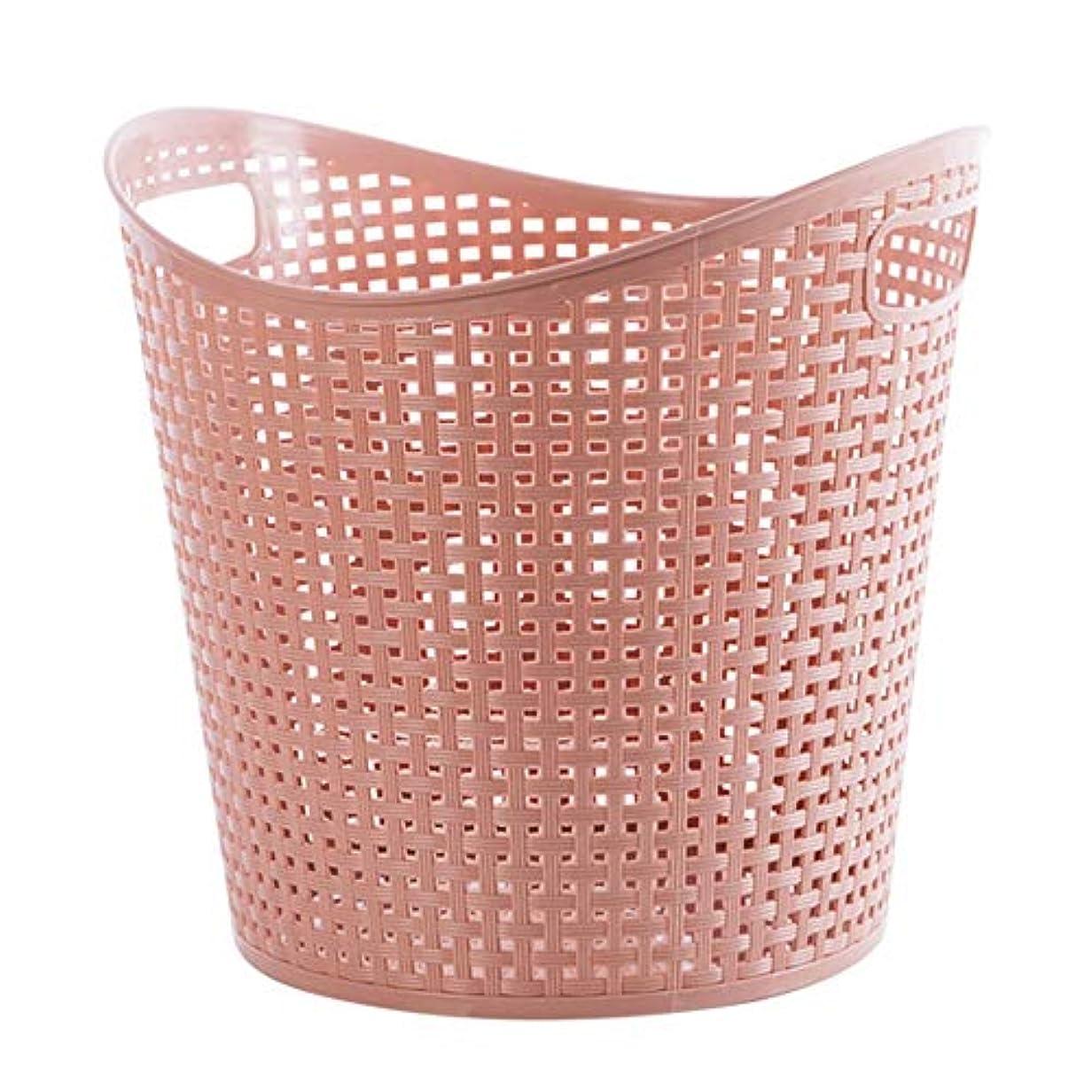 返還学んだ賭けプラスチック製のバスケットバスケット、洗濯バスケット、バスルームストレージ、おもちゃのストレージバスケット、環境に優しいPP材、大容量、 (Color : Pink)