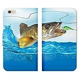 Galaxy S9 SC-02K 手帳型 ベルト無し ケース ストラップホール付 魚 釣り フィッシング つり ルアー さかな RB006601_04