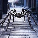 Dreampark Halloween Giant Spider, Halloween Spider Outdoor Decoration Fake Large Hairy Spider Props Yard Decor (4.9FT)