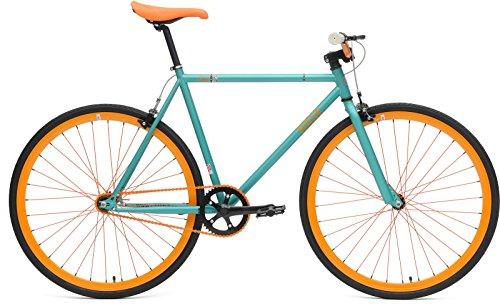 CHILL bikes チルバイク Base ソリッド 480mm マットターコイズ/アノダイズドオレンジ