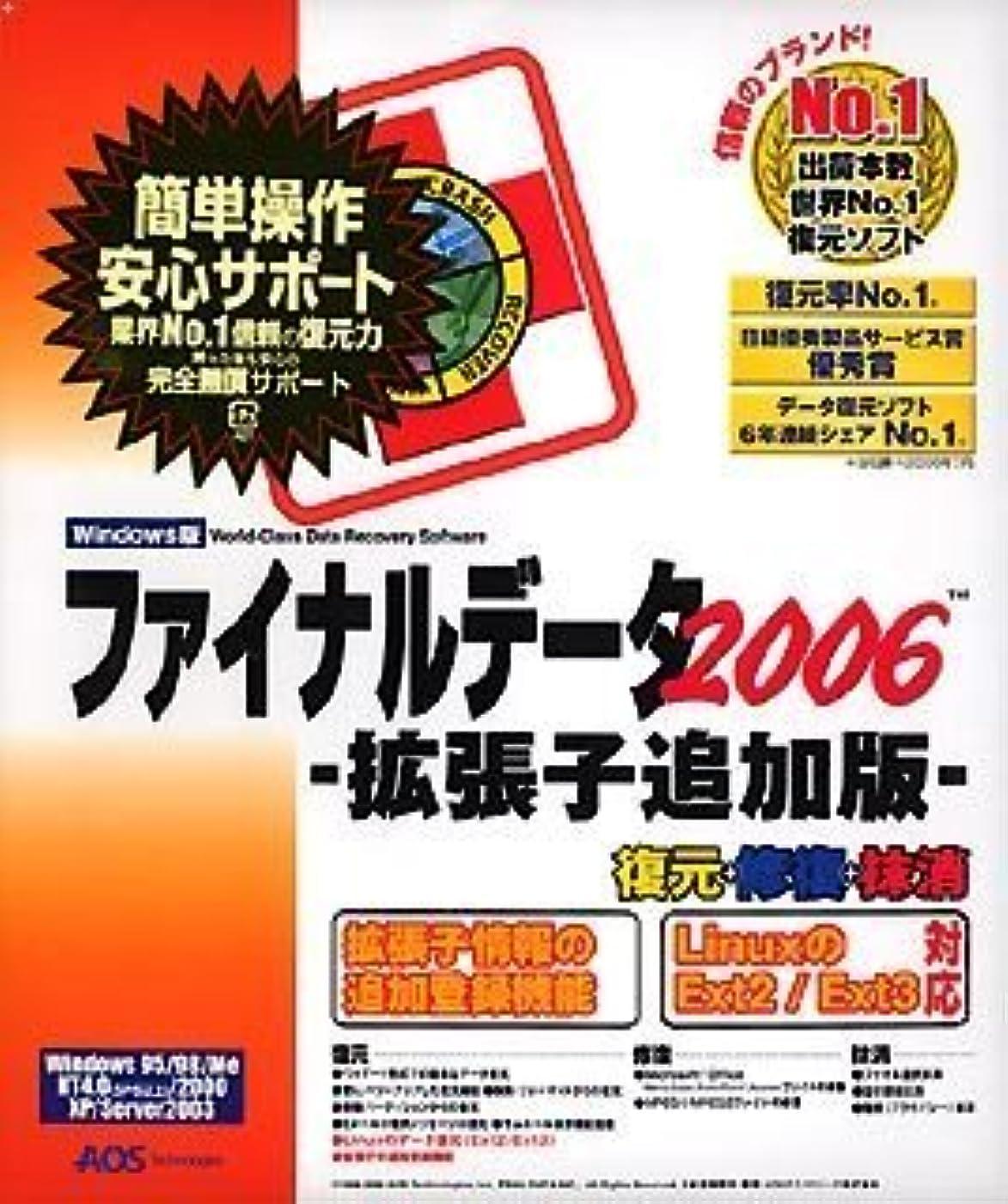 利益オリエンタル近くファイナルデータ2006 拡張子追加版