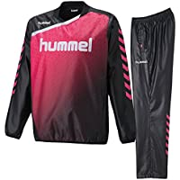 ヒュンメル(hummel) トライアルコート&トライアルパンツ 上下セット(ブラック/ブラックSピンク) HAW4174-90-HAW5174-9024