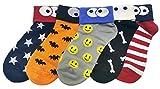 (ジェイジェイマクス) JJMaxUS 女性かわいいリボン付きモンスター綿靴下ファションソックスセットJJMax Women's Monsters and Ribbons Convertible Sneaker Anklet Transforming Socks Set かくれんぼ1 [並行輸入品]