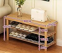 シューズラック シューズラックソリッドウッドシンプルなマルチ階建てのドアシューズ寮の後にシンプルな寝室のための靴のストール経済シューズラック (色 : A*, サイズ さいず : 90センチメートル)