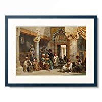 カール・ワーナー Carl Friedrich Heinrich Werner 「Arab Figures In A Coffee House. 1870」 額装アート作品