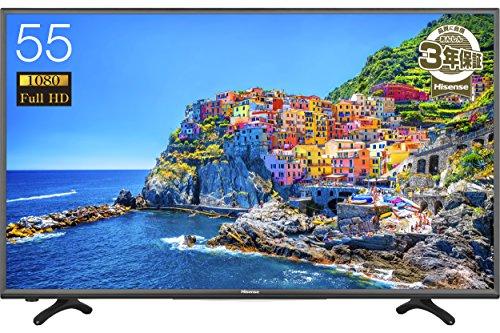ハイセンス 55V型 フルハイビジョン 液晶 テレビ  HJ55K3120 外付けHDD録画対応(裏番組録画)