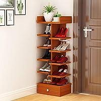靴ラックソリッドウッドシンプルな多層家庭用靴箱リビングルーム多機能シェルフストレージラック (色 : 3)