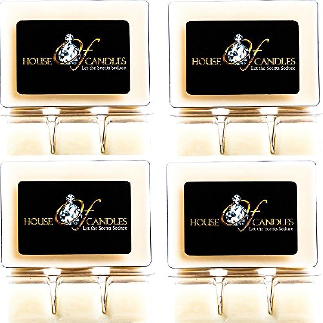 名前を作るゼロパスCappuccino Scented Candle Melts x 4 Clam Packs
