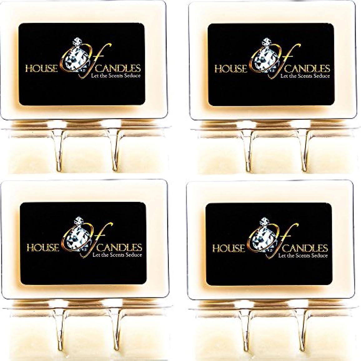 ワゴン毎月おびえたCappuccino Scented Candle Melts x 4 Clam Packs