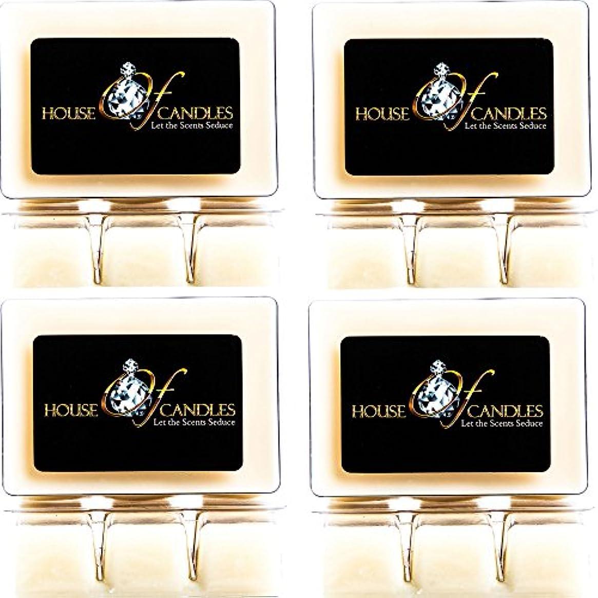 社会習慣スタックCappuccino Scented Candle Melts x 4 Clam Packs