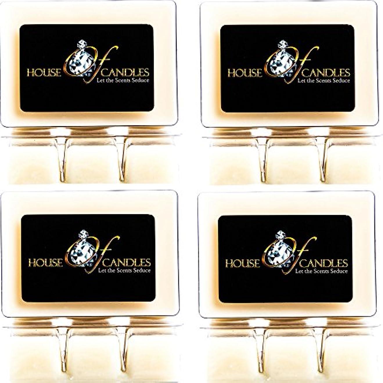 滝セグメント雑多なCappuccino Scented Candle Melts x 4 Clam Packs
