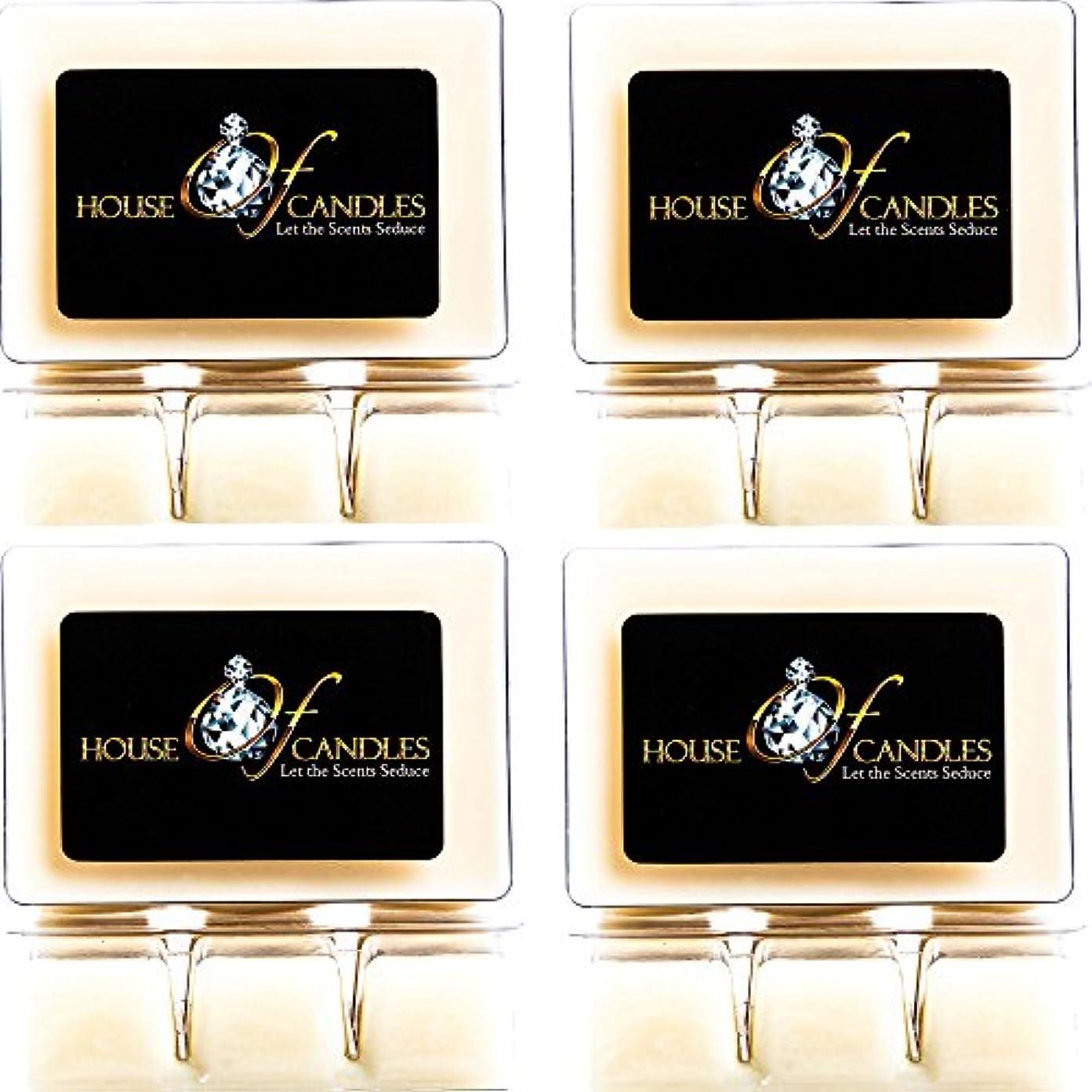 飼料持つ餌Cappuccino Scented Candle Melts x 4 Clam Packs