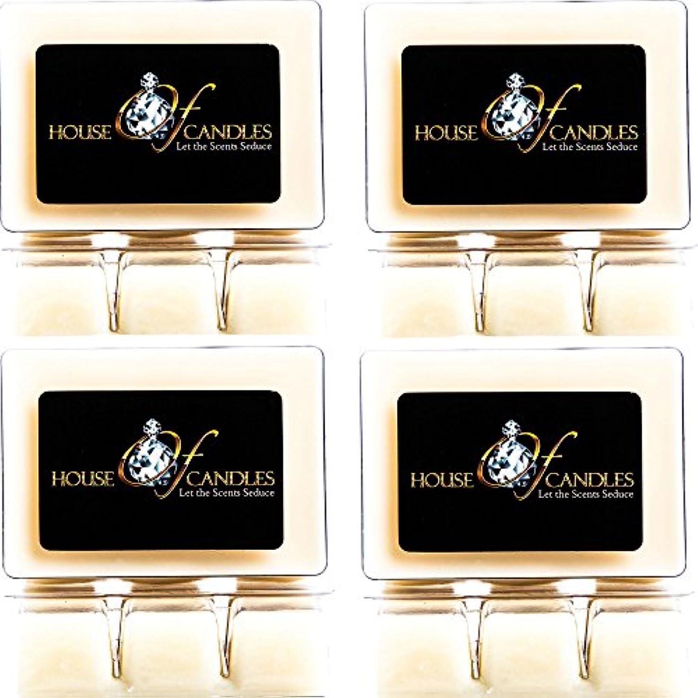 葡萄起こる経度Cappuccino Scented Candle Melts x 4 Clam Packs