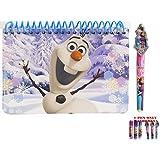 [ディズニーフローズン]Disney Frozen Olaf The Snowman Spiral Autograph Book and 1 Pen 062966PEN-OLAF [並行輸入品]