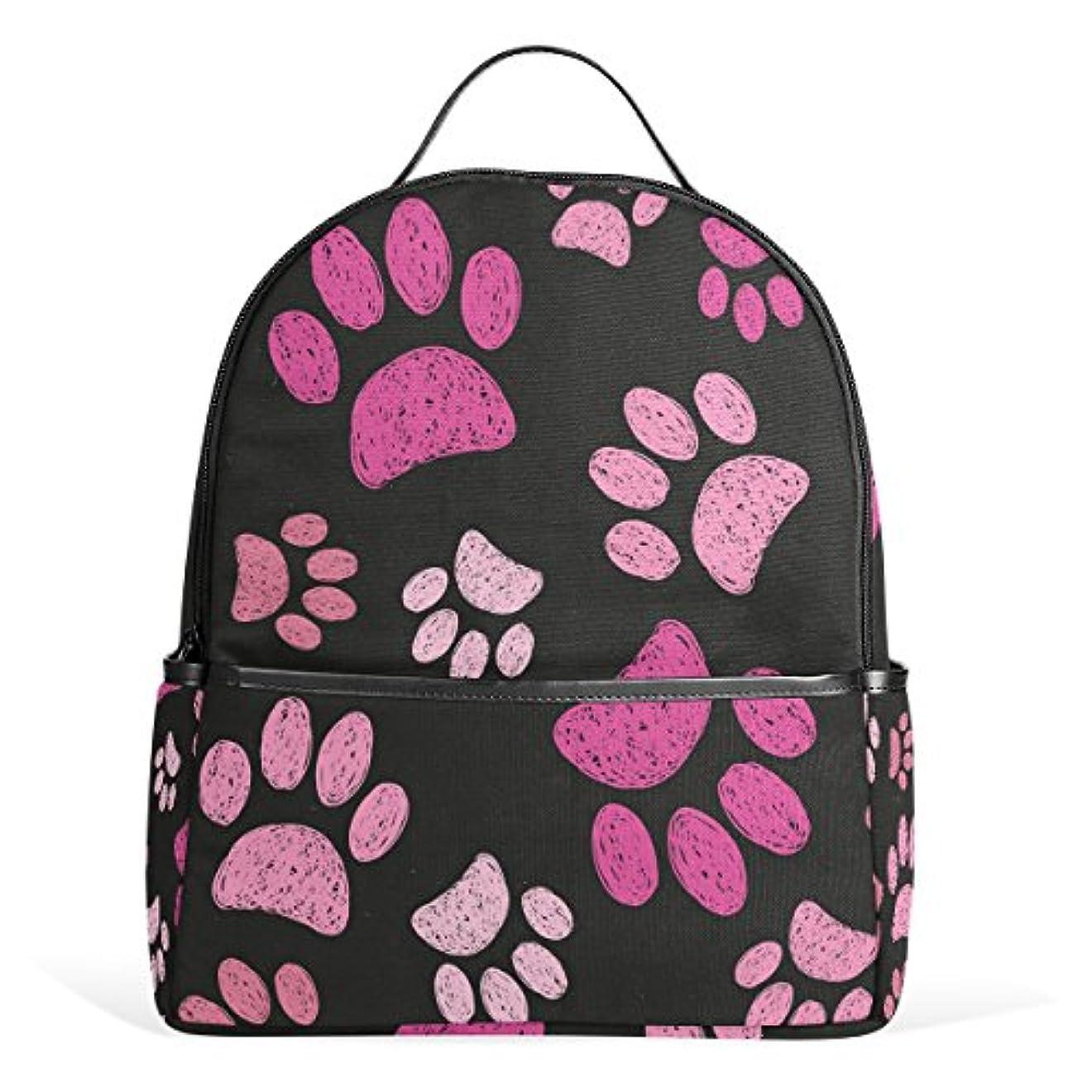 どっちでも公ピザバララ(La Rose) リュックサック 高校生 中学生 通学 通勤 かわいい ネコ 猫柄 足跡 絵柄 リュック レディース おしゃれ 大容量 軽量 子供 キャンバス バック 旅行 カジュアル デイパック