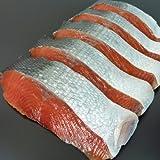 魚水島 「天然」塩紅鮭(サケ)「特大切身5切」甘塩