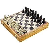 Artist Haat 手作り黒と白のマーブルのチェスボード(約30*30*1.2センチメートル。)