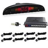 WIKOOL 高性能 バックセンサー 12V車用 パーキングセンサー アラーム モニター付き 8個センサー(22MM) 1年間保証 グレー