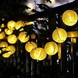 LEAZEAL 20 LED 提灯 ガーデンライト (ホワイト) LED ソーラー ストリングライト イルミネーションライト クリスマス 屋外 パーティー 防水