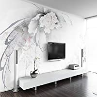 Bzbhart 壁のための美しいエレガントな抽象的な花の3D壁紙3Dの背景絵画壁画の壁紙ホームセンター-400cmx280cm