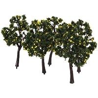 【ノーブランド品】樹木 果樹木 モデルツリー 10本 高さ12cm スケール:1:75 鉄道模型