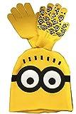 (ADOSSY) 黄色 ニット帽 手袋 シール ステッカー ハロウィン 子供 コスプレ 衣装小物 (キッズ, 帽子・手袋・シール)