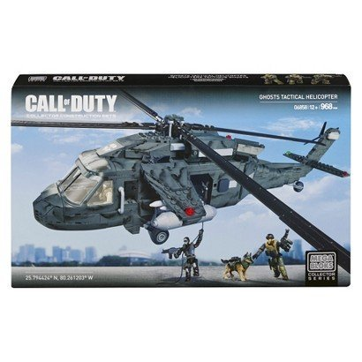MEGA Bloks Call of Duty Ghost Squad Raid - for kids - games - Tactical Helicopter pilot - indoor or outdoor play -