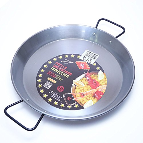 EL CID スペイン製 パエリヤ鍋 プロ用 パエリアパン レシピ 付き パエージャ IH対応 34cm 6人用