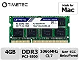 Timetec Hynix IC 4GB Mac用 DDR3 PC3-8500 1066 MHz Apple専用増設メモリ 永久保証 (4 GB)