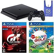 PlayStation 4 + グランツーリスモSPORT + New みんなのGOLF + オリジナルデザインエコバッグ セット (ジェット・ブラック) (CUH-2200AB01)