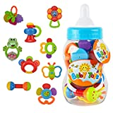 Wishtime 新生児のおもちゃシリーズ おしゃぶり&ラトル 9点 セット ZM15015 食品衛生法検査に合格