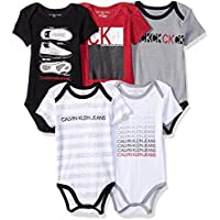 7607a122870b Calvin Klein Baby Boys 5 Pieces Pack Bodysuits