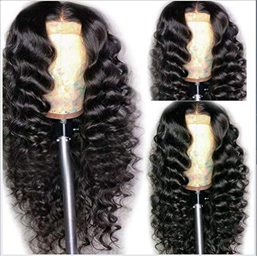 反射粘着性乙女女性180%フル密度ウィッグブラジルボディウェーブ耐熱合成繊維ベビーヘア未処理人毛黒62cm