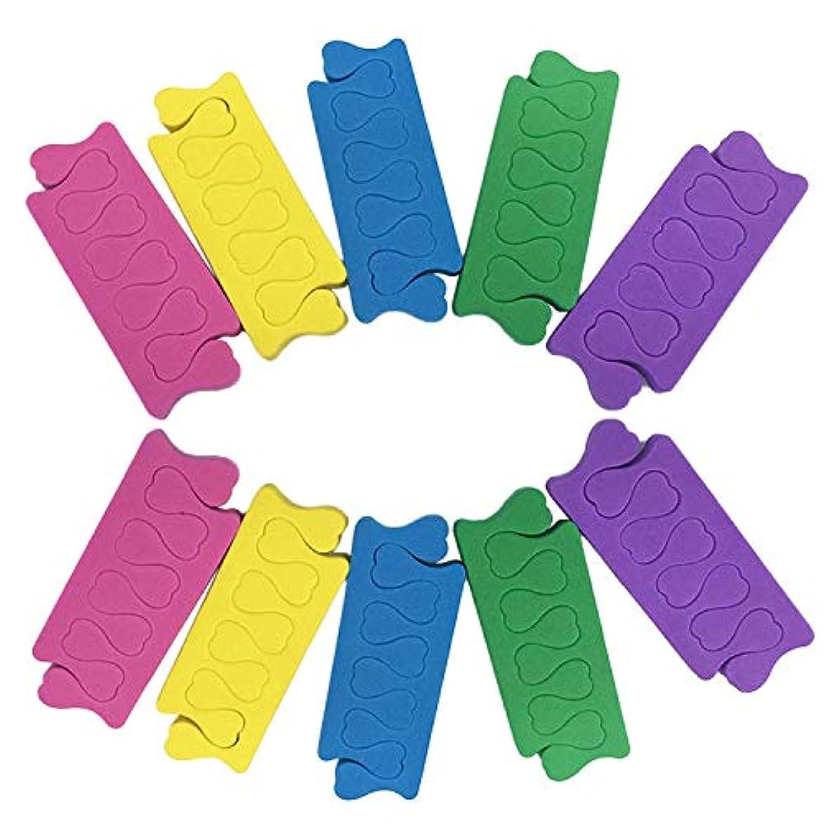 彼らのものフレキシブルリスナートゥセパレーター Migavann フィンガーセパレーター 50組の色の組み合わせソフトフォームスポンジフィンガーセパレーターデバイダーネイルアートマニキュアペディキュアツール