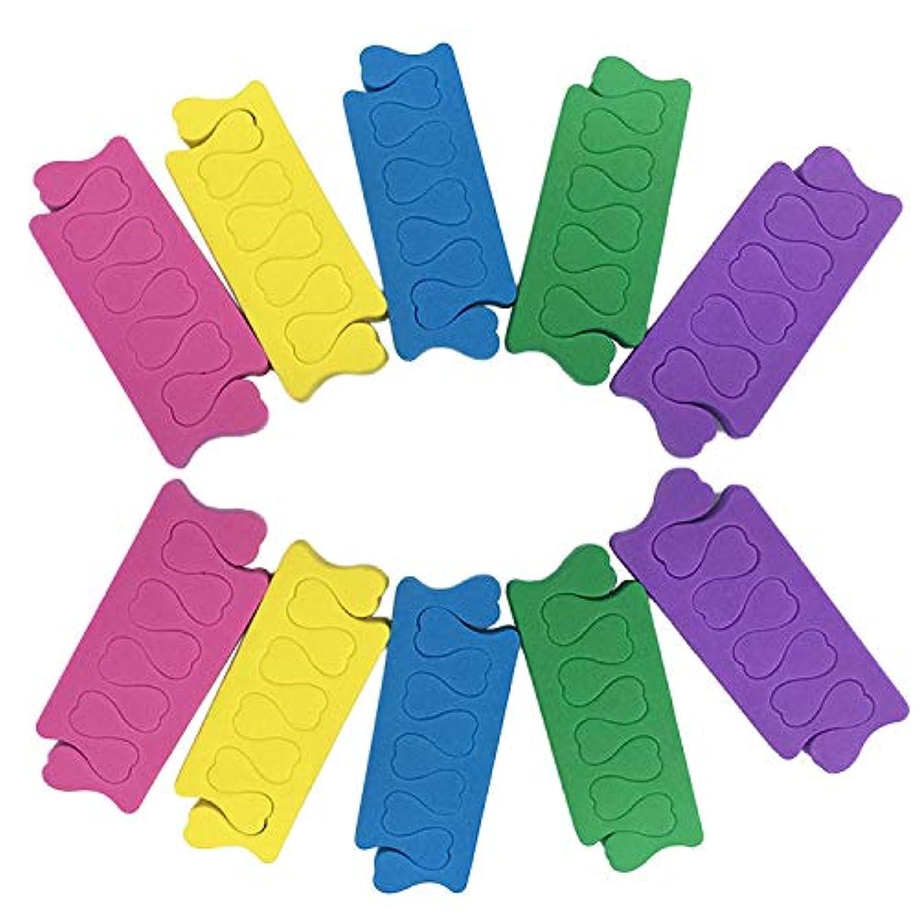 年金任意ウミウシトゥセパレーター Migavann フィンガーセパレーター 50組の色の組み合わせソフトフォームスポンジフィンガーセパレーターデバイダーネイルアートマニキュアペディキュアツール