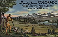 コロラド–Howdy ( Mountain and Prairieシーン) 24 x 36 Giclee Print LANT-8524-24x36