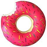 かじられたドーナツの浮き輪 (ピンク, 100cm)