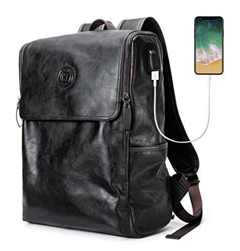 HAUTTON リュックサック 多機能バッグ カバン鞄 バックパック PUレザー 大学生 人気 ビジ...