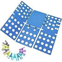 Ohuhu Clothes Folder with Towel Clips - Adult Dress Pants Towels T-shirt Folder / Shirt Folder/ Laundry Folder Board Organizer (blue)