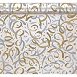 Gold / Silver Streamer Cello Tissue Paper (12 sheets) by Amscan [並行輸入品]