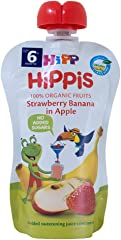 Hipp Organic Strawberry Banana In Apple Pouch, 100g