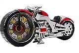 AnesZakka アメリカン好きにはたまらない バイク インテリア 目覚まし アラーム 置き 時計 (レッド)