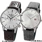 [ウォッチメーカー ミラノ]Watchmaker Milano 腕時計 メンズ バウーシャ クロノ WM.0BC.02 ホワイトシルバーとアンブロジオWM.00A.07 ..