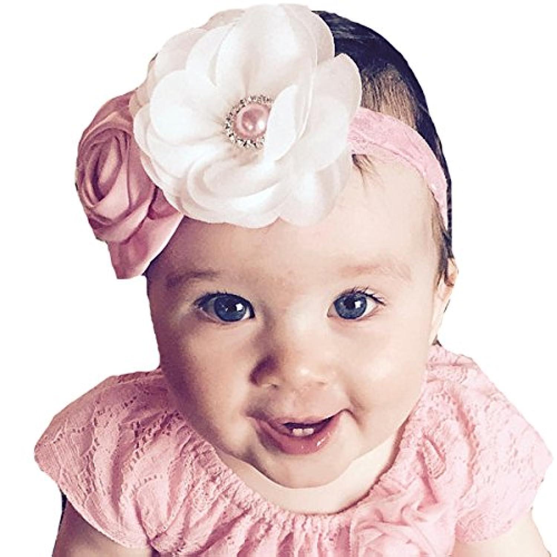miugleベビーガールズフラワーヘッドバンド幼児幼児用ヘアリボン