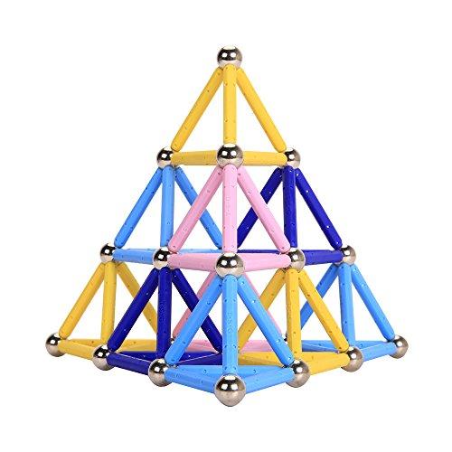 子供の知力を育てるプレイ・メイティ 104ピース マグネット ブロック おもちゃ 知育 玩具 磁石 ...