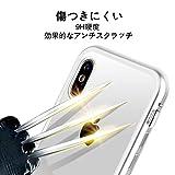 iPhone X ケース 透明な強化ガラスと360°金属フレーム 完全保護スマホケース 衝撃防止 擦り傷防止 iPhone 10 カバー 磁性技術 ワイヤレス急速充電 取り付けやすい (黒・透明)