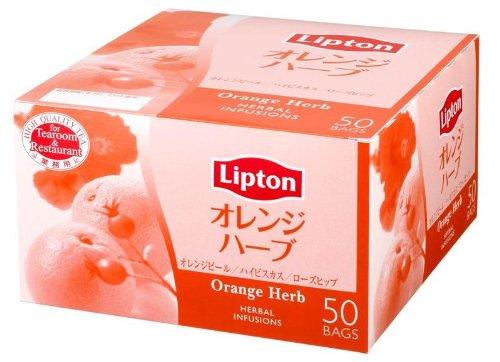 リプトン オレンジハーブ アルミ 50袋