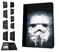 003844 - Space Soldier Illustration Design Amazon Kindle Fire HD 10 (2017) レザー手帳型ケース ダイアリト スタンド 財布型