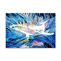 WZMFBH 抽象的なポスターと版画壁画アートキャンバス絵画壁画リビングルームホームデコレーションフレームレス