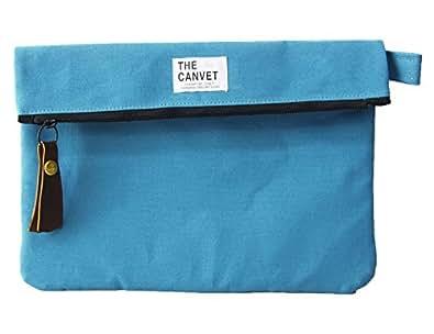 (THE CANVET)キャンベット クラッチバッグ/日本製/ノンウォッシュ/タブレットカバー tc714006 ターコイズ FREE
